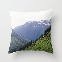 Scenic Drive on Sun Road, 35mm Throw Pillow