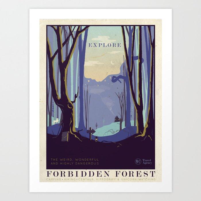 Explore The Forbidden Forest Kunstdrucke