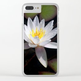 The white nymphaea Clear iPhone Case