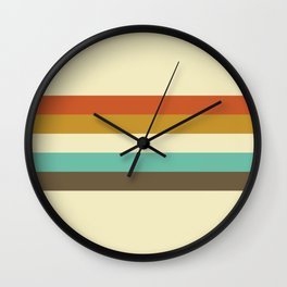 retro color palette Wall Clock