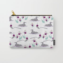 Loons and Ladyslippers Carry-All Pouch