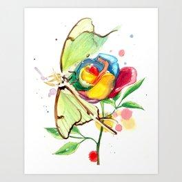Luna Rose Art Print