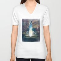 fault V-neck T-shirts featuring It´s your fault by HappyMelvin