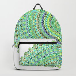 Pastel Green Doily Spiral Backpack
