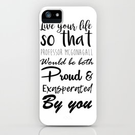 McGonagall Motto iPhone Case