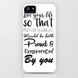 McGonagall Motto iPhone Case