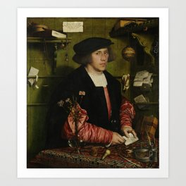Hans Holbein the Younger - The Merchant Georg Gisze Art Print