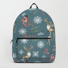 Xmas Pattern Teal #socieyt6 #buyart Backpack