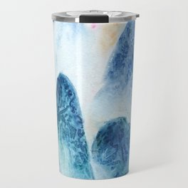 dawn in the mountain forest Travel Mug