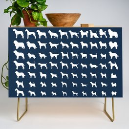 All Dogs (Navy) Credenza