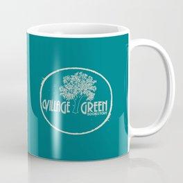 Village Green Bookstore Tan on Green Coffee Mug