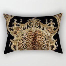 Leopard Chinoise Rectangular Pillow