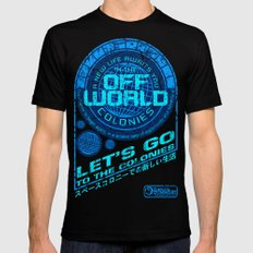 Off World Mens Fitted Tee LARGE Black
