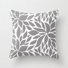Bloom - Gray Throw Pillow