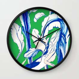Saint Patrick's Day Succulent Wall Clock