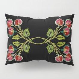 Embroidered Scandi Flowers Pillow Sham