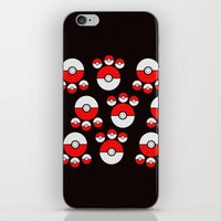 pokeball iPhone & iPod Skins featuring Pokeball Print by UMe Images