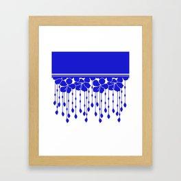 Hibiscus Bead Curtain: LAPIS White Framed Art Print