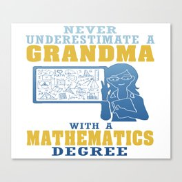 Mathematics Grandma Canvas Print