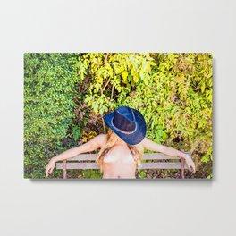 Nude Cowgirl Metal Print