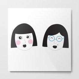 Sister Sister Metal Print