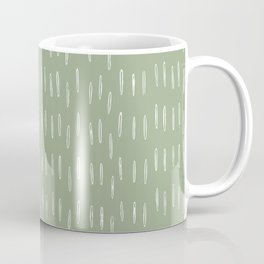Raindrop Boho Abstract Pattern, Sage Green Coffee Mug