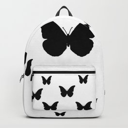 GOTHIC EBONY BLACK BUTTERFLIES & WHITE-BLACK ART Backpack