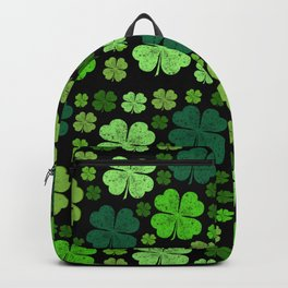 Saint Patrick's Day, Four Leafed Clovers - Green Backpack