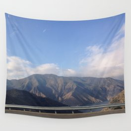 The lone mountain range Wall Tapestry