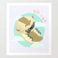 appa Art Prints featuring Appa - Avatar the legendo of Aang by Manfred Maroto