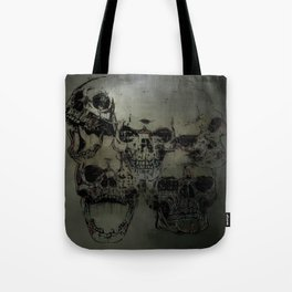 Dark abstract skull Tote Bag