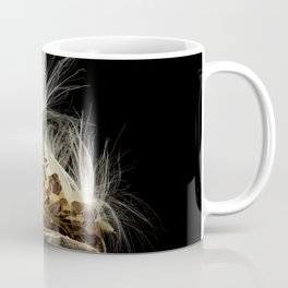 Seeds flying from Swamp Milkweed seed pod Coffee Mug