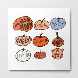 Types of Pumpkins Metal Print