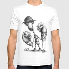 #17 White Mens Fitted Tee MEDIUM