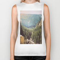 the mountains are calling Biker Tanks featuring The Mountains Are Calling by Madeleine Johnson