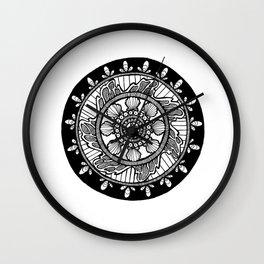 Wave Mandala Wall Clock