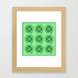 Lucky Clovers Pattern Framed Art Print