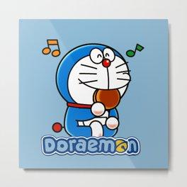 Doraemon eat Dorayaki 3 Metal Print