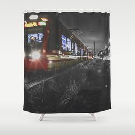 on the right track Shower Curtain