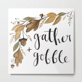 Gather + Gobble - Foliage Metal Print