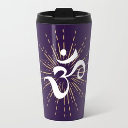 Om Mantra Universal Energy Purple Travel Mug