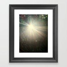 Keep me in the light Framed Art Print