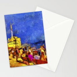 Istanbul At Night Van Gogh Stationery Cards
