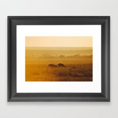 Safari Sun Framed Art Print