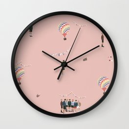 BTS Young Forever Pattern - Pink Wall Clock