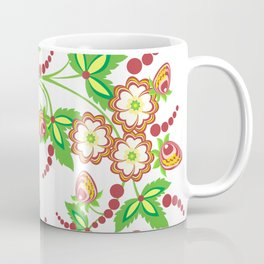 Abstract branch with flowers and strawberries Coffee Mug