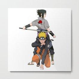 Fan Art Naruto Anime Metal Print