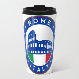 Rome, Italy, with flag Travel Mug