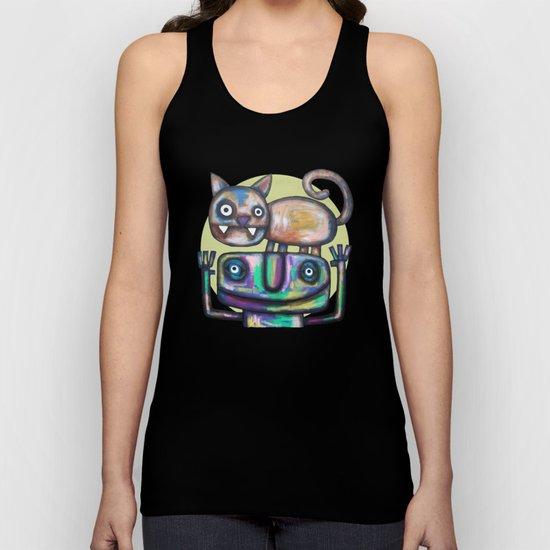 Juggler with Cat Unisex Tank Top
