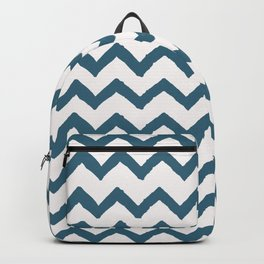 Chevron Teal Backpack